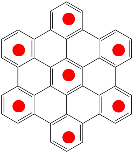 Clar islands in a polybenzenoid hydrocarbon