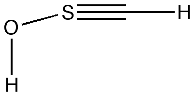 A compound with a CS triple bond