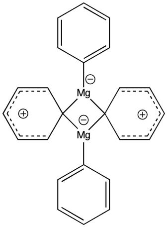 A Simple bonding representation in  Ph2Mg dimer