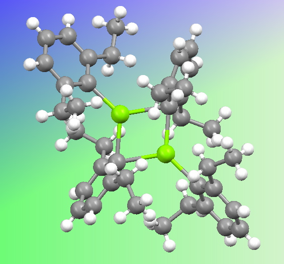 The crystal structure of a di-aryl magnesium. Click to view 3D